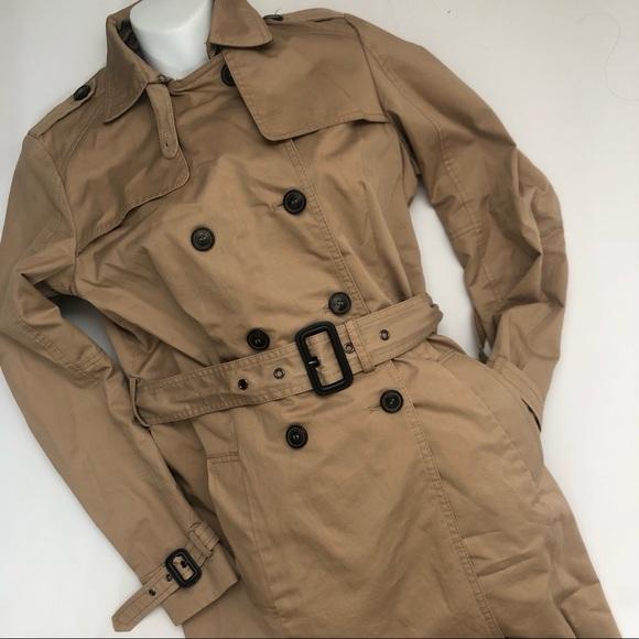 c9951e2b Zara Jackets & Coats | Basic Khaki Trench Double Breasted Coat ...